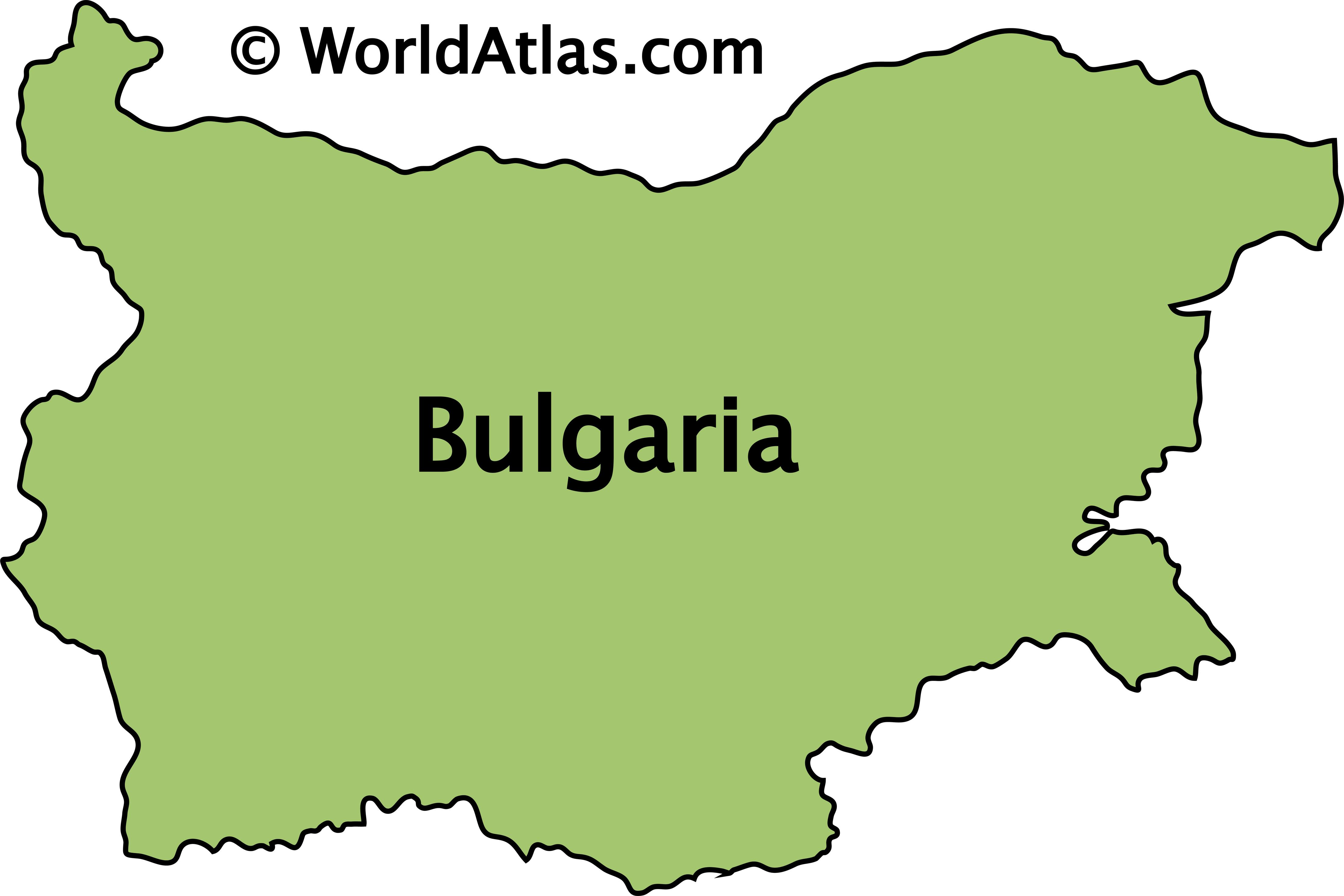 Outline Map of Bulgaria