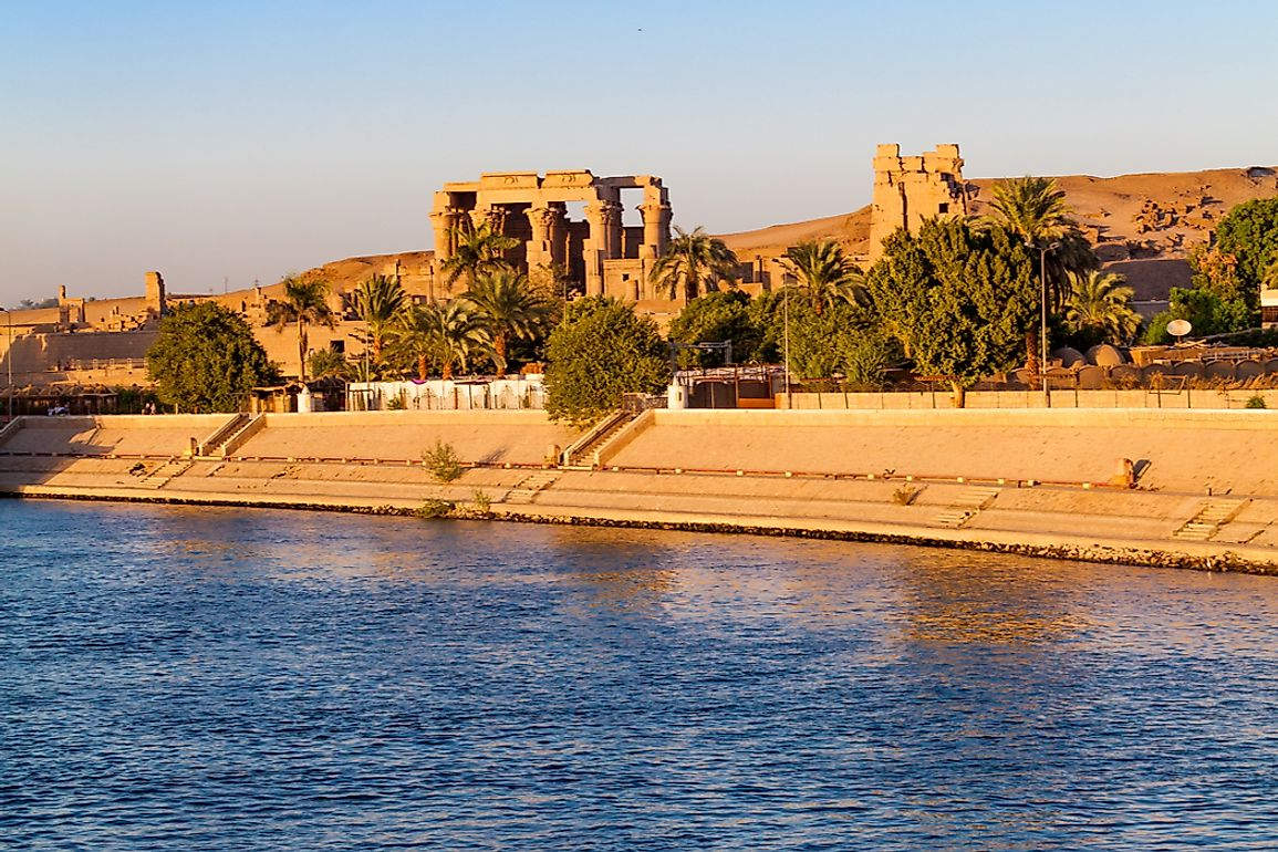 Egypt's ancient civilization was built along the Nile River.