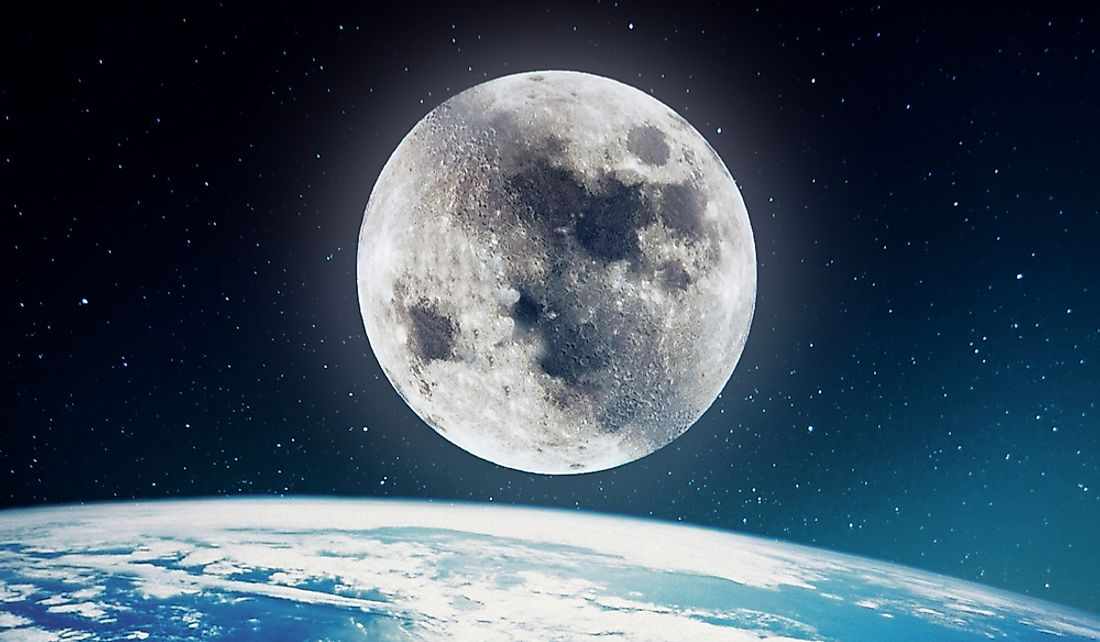 The earth has only one natural satellite.