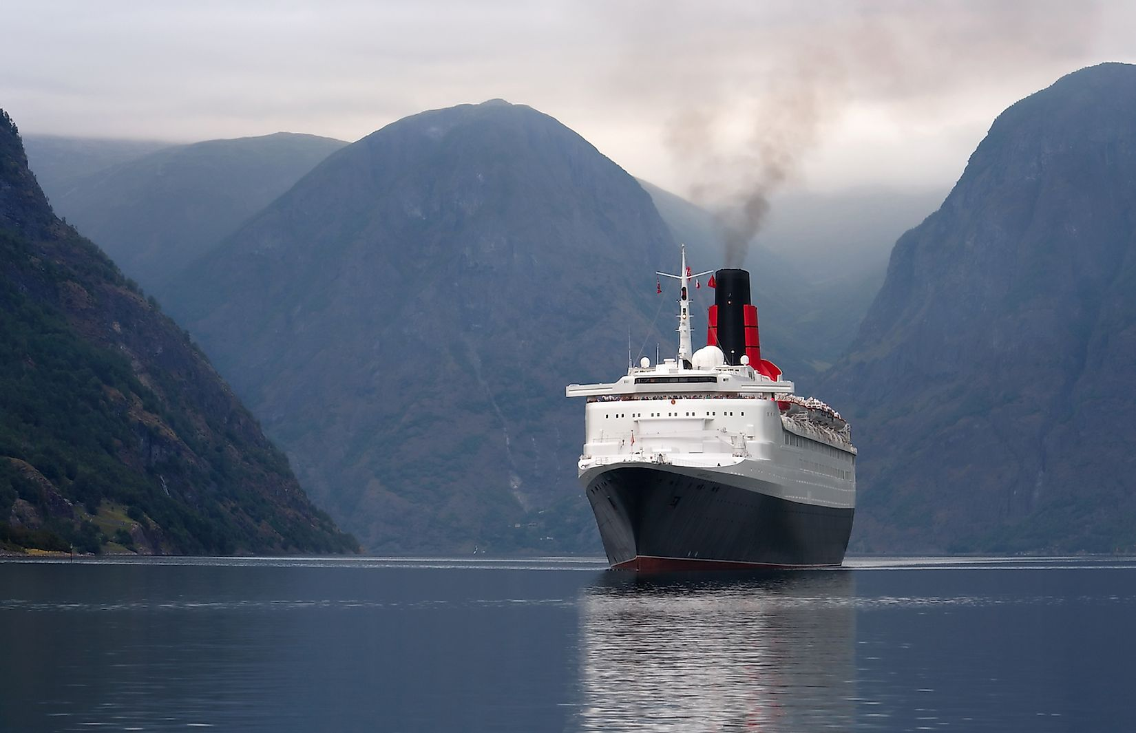 Wastewater released by cruise ships with large numbers of passengers significantly pollute the ocean waters. Image credit: Bjorn Heller/Shutterstock.com