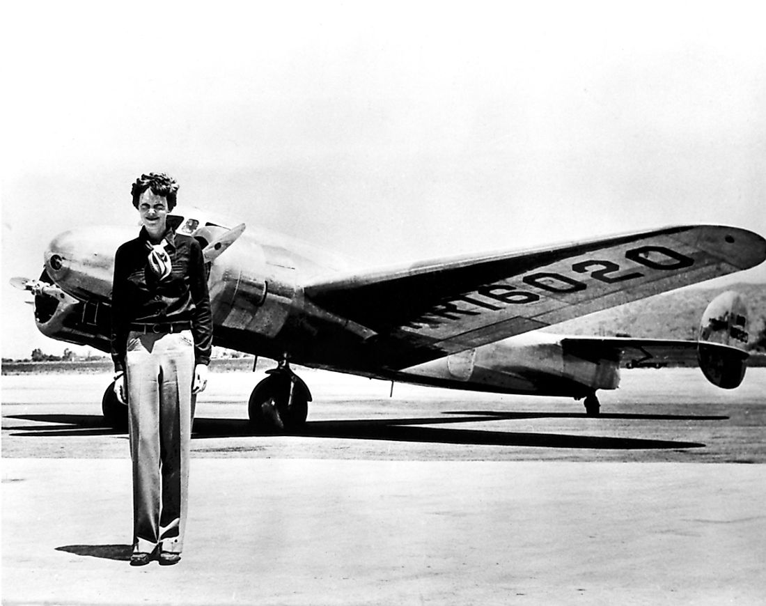 Pilot Amelia Earhart is famous for having disappeared in her aircraft.