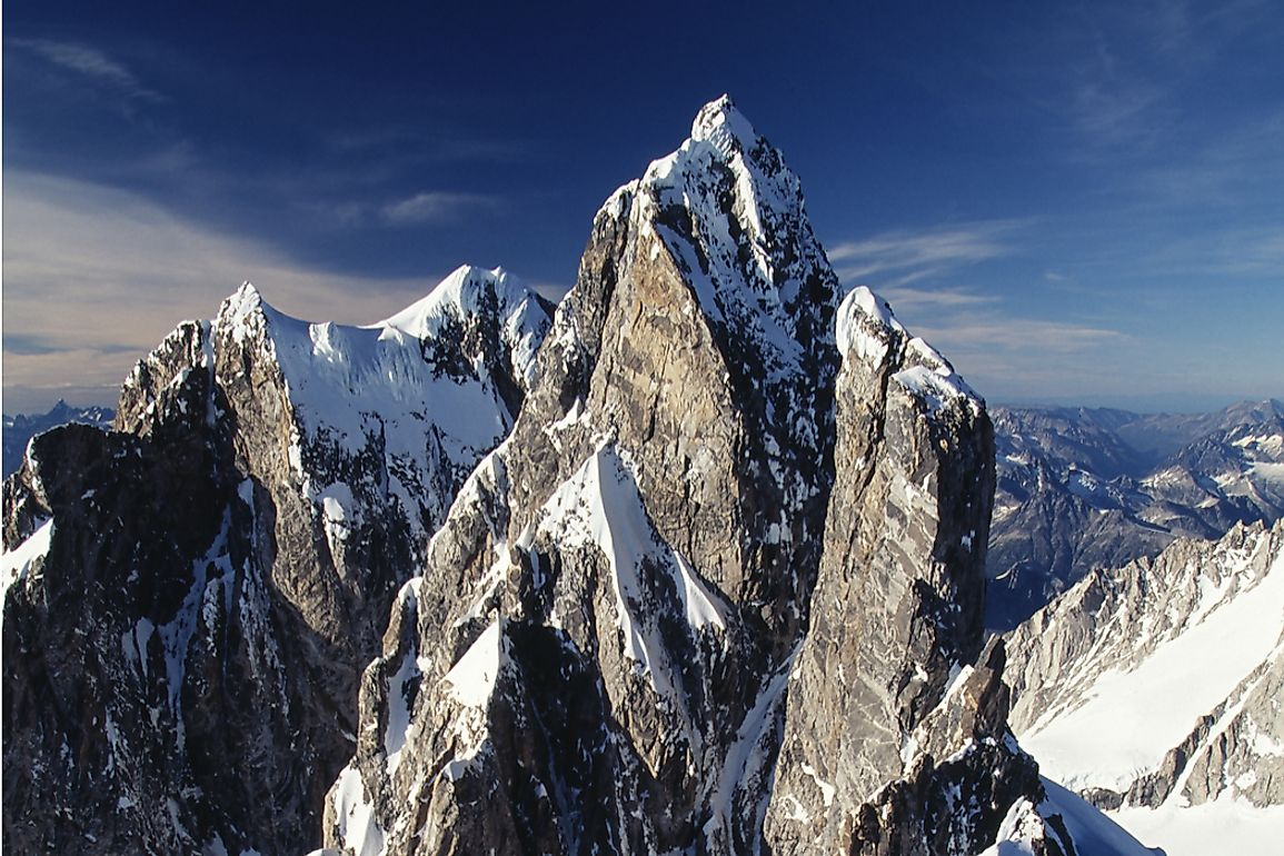 Mount Waddington is the tallest peak situated entirely within the province of British Columbia.