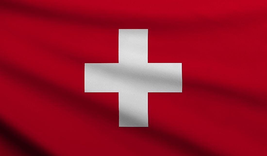The official flag of Switzerland.