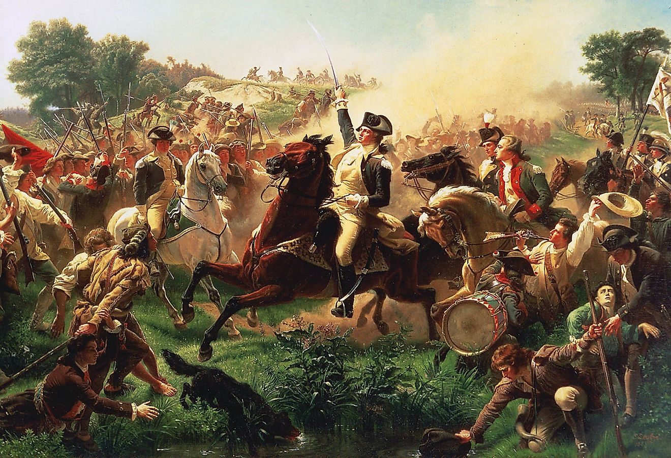 Washington Rallying the Troops at Monmouth. Image credit: Emanuel Leutze / Public domain