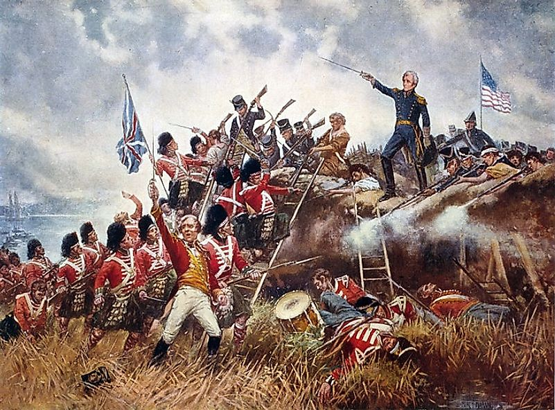 General Andrew Jackson leads his men against a British-loyal Scottish regiment in the Battle Of New Orleans.
