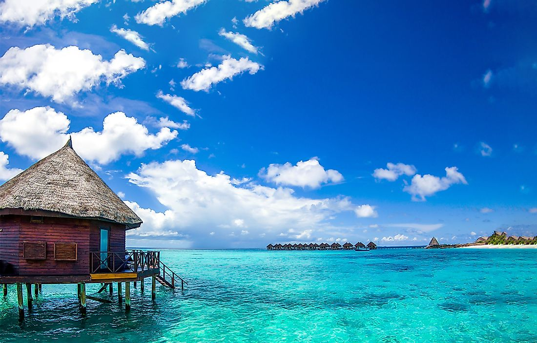 Like much of the nation, this beach in the Maldives lies at sea level.
