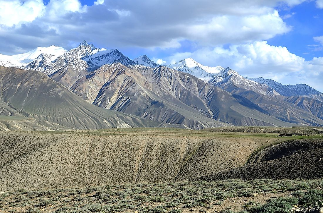 The Hindu Kush mountains in Afghanistan.