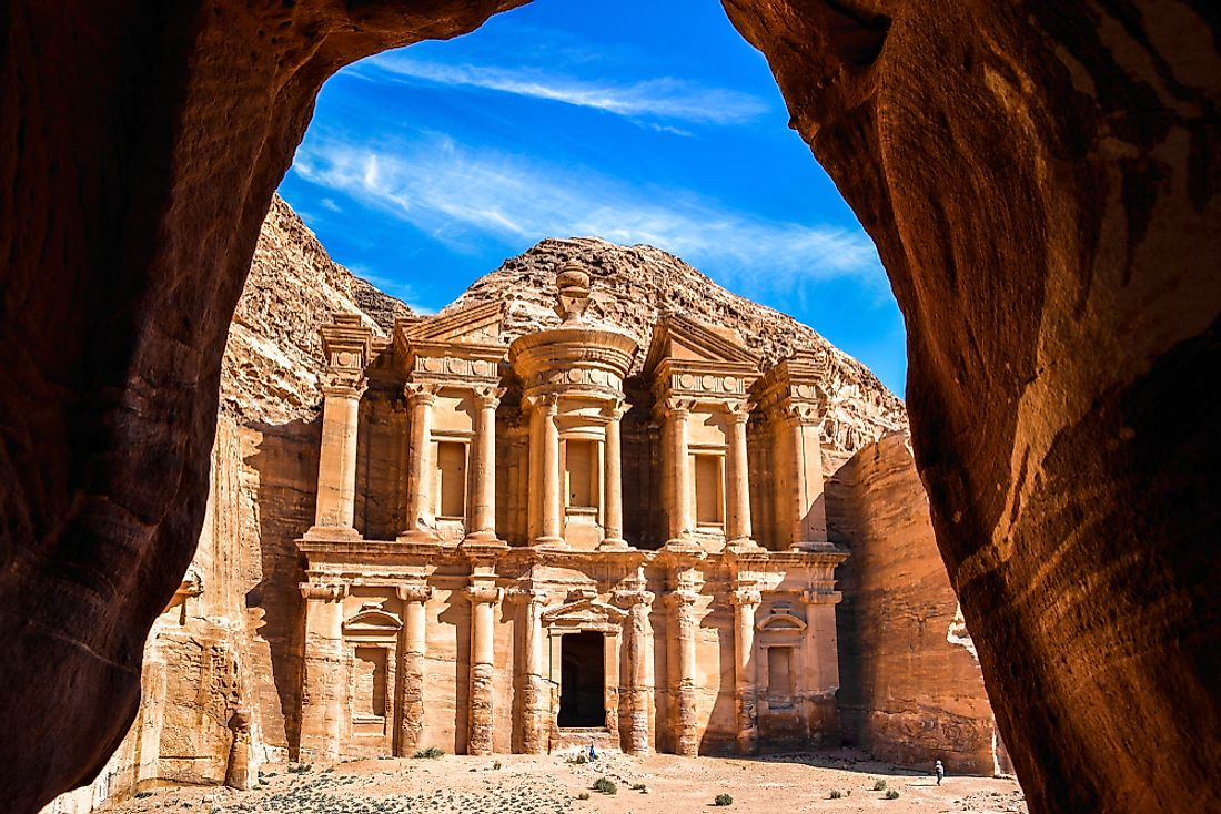 The archeological site of Petra in Jordan.