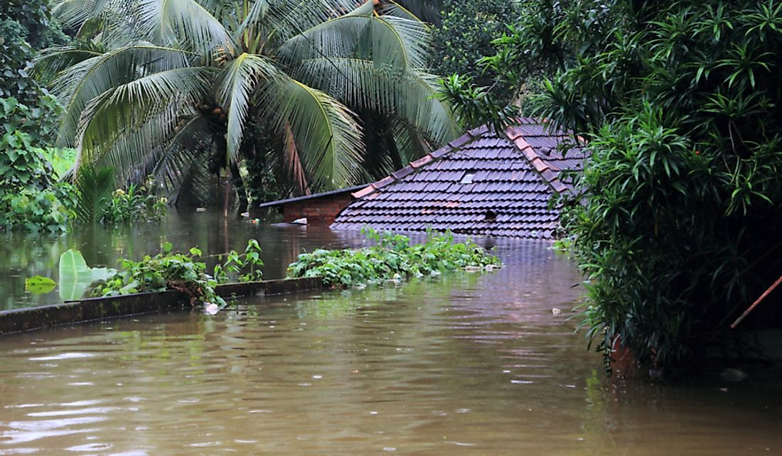 The Indian state of Kerala was severely impacted by floodwaters in 2018. Editorial credit: AJP / Shutterstock.com