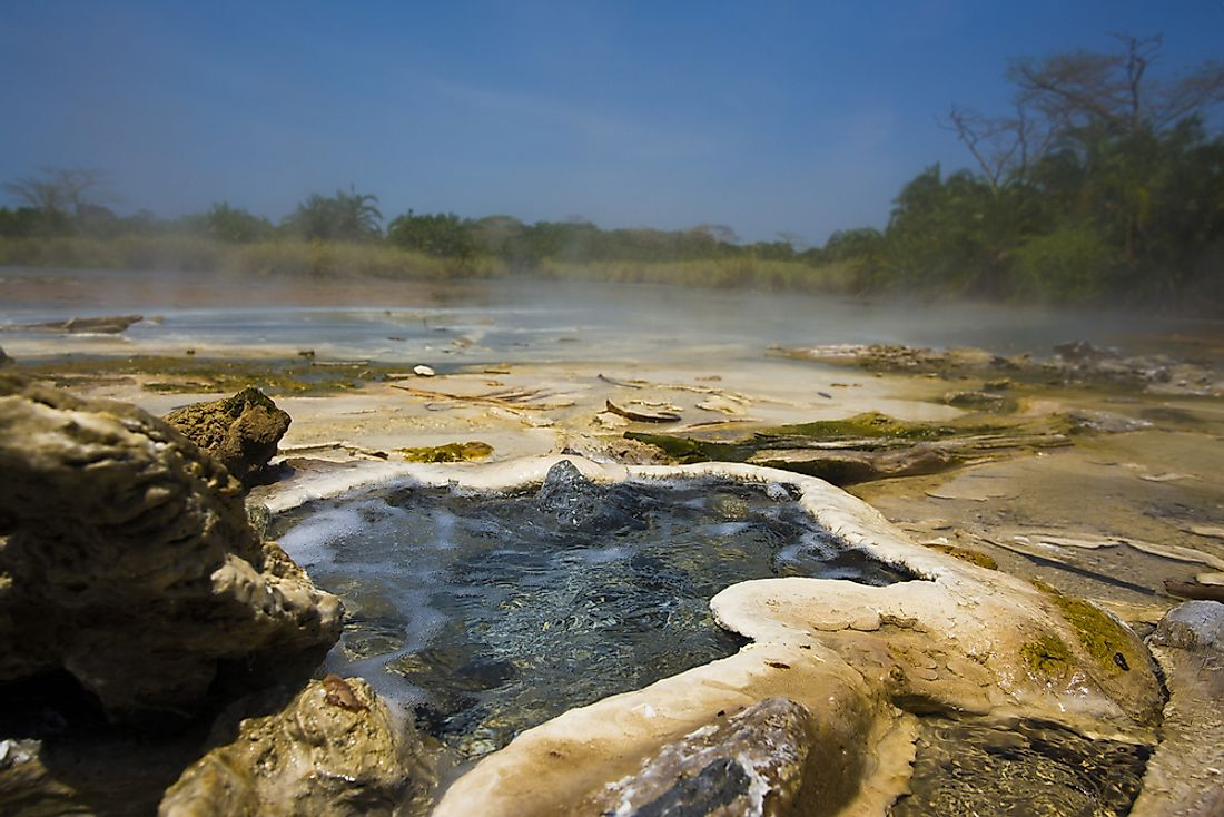 A hot spring in Semuliki National Park.