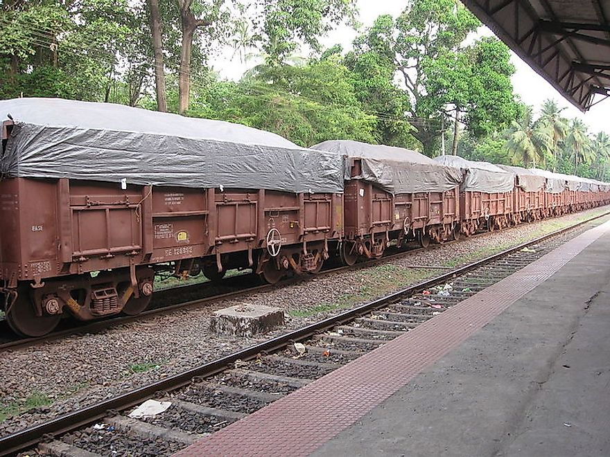 Train Carrying Iron Ore to Marmagao Port In India