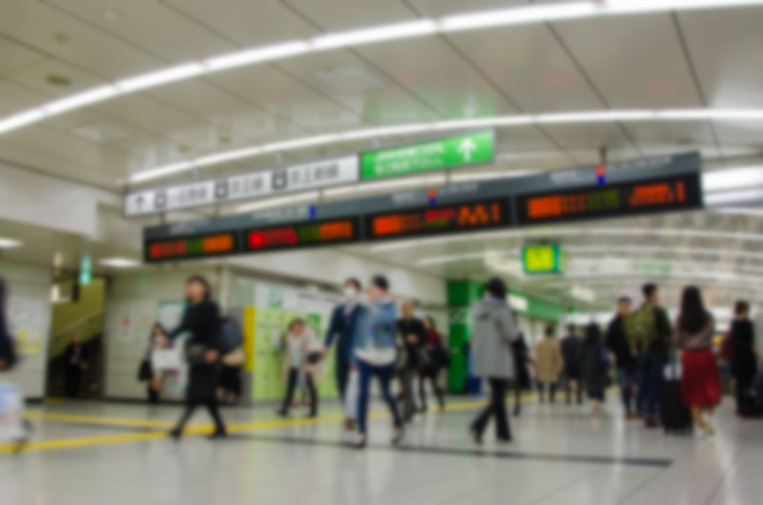 Days at Shinjuku station pass by in a busy blur.