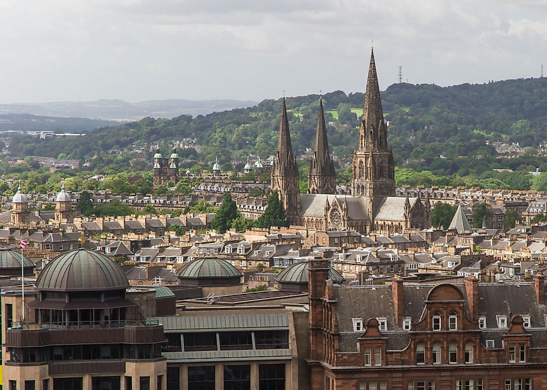 St Mary's three gothic spires can be seen from anywhere in the city.  Editorial credit: Colin Dewar / Shutterstock.com