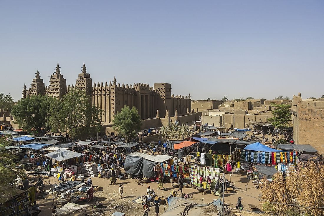 The Great Mosque of Djenné, Mali.