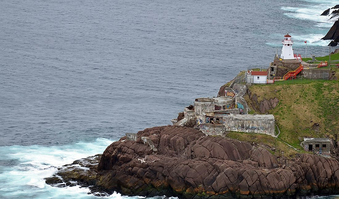 Cape Spear in Newfoundland, Canada is considered one of the easternmost points in North America. Editorial credit: meunierd / Shutterstock.com