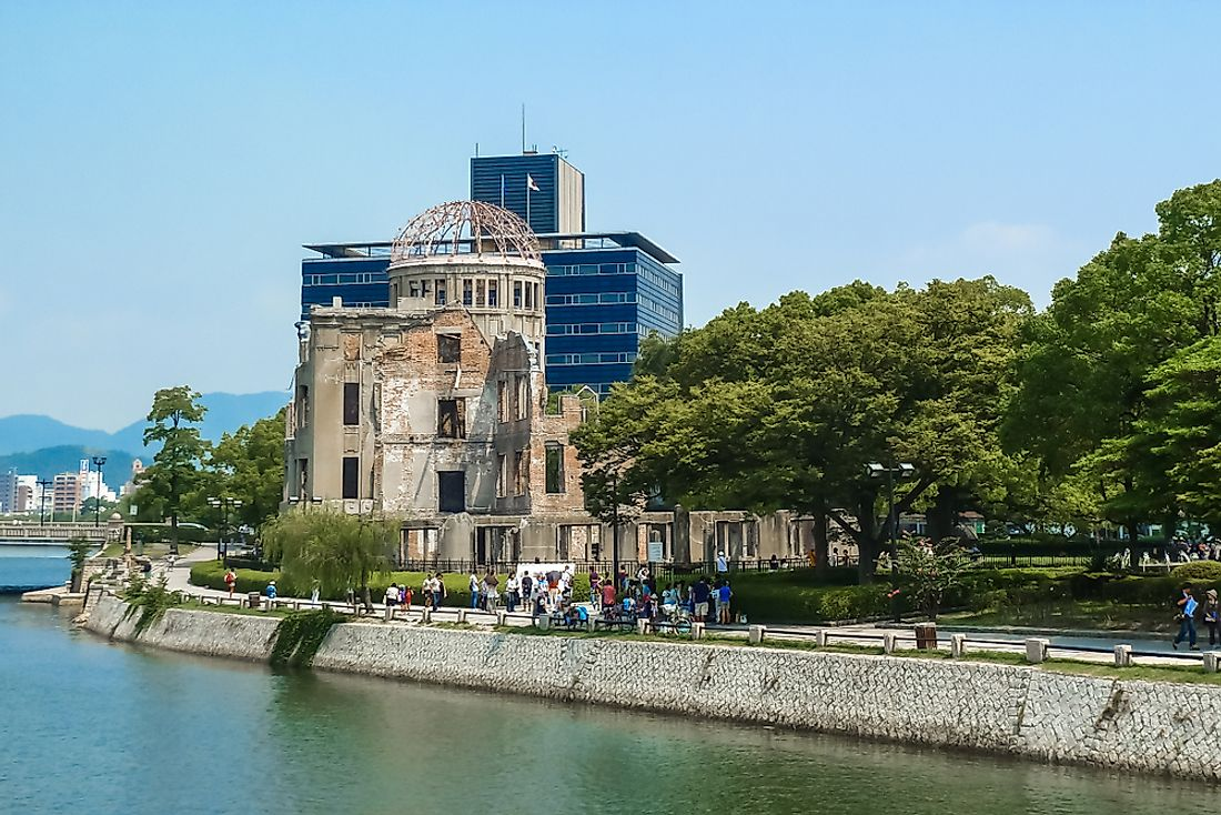 The Atomic Dome in Hiroshima today stands as a memorial to the nuclear bombings. Editorial credit: Martina Badini / Shutterstock.com.