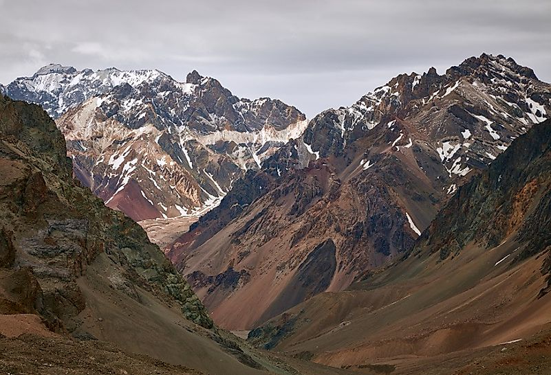 Mount Aconcagua in Argentina, the tallest mountain in the Andes.