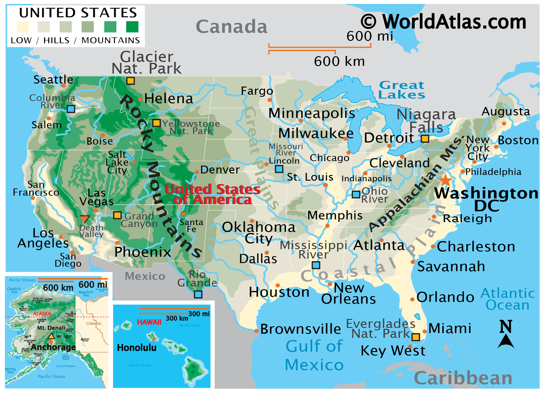 Map Of The The United States.United States Map