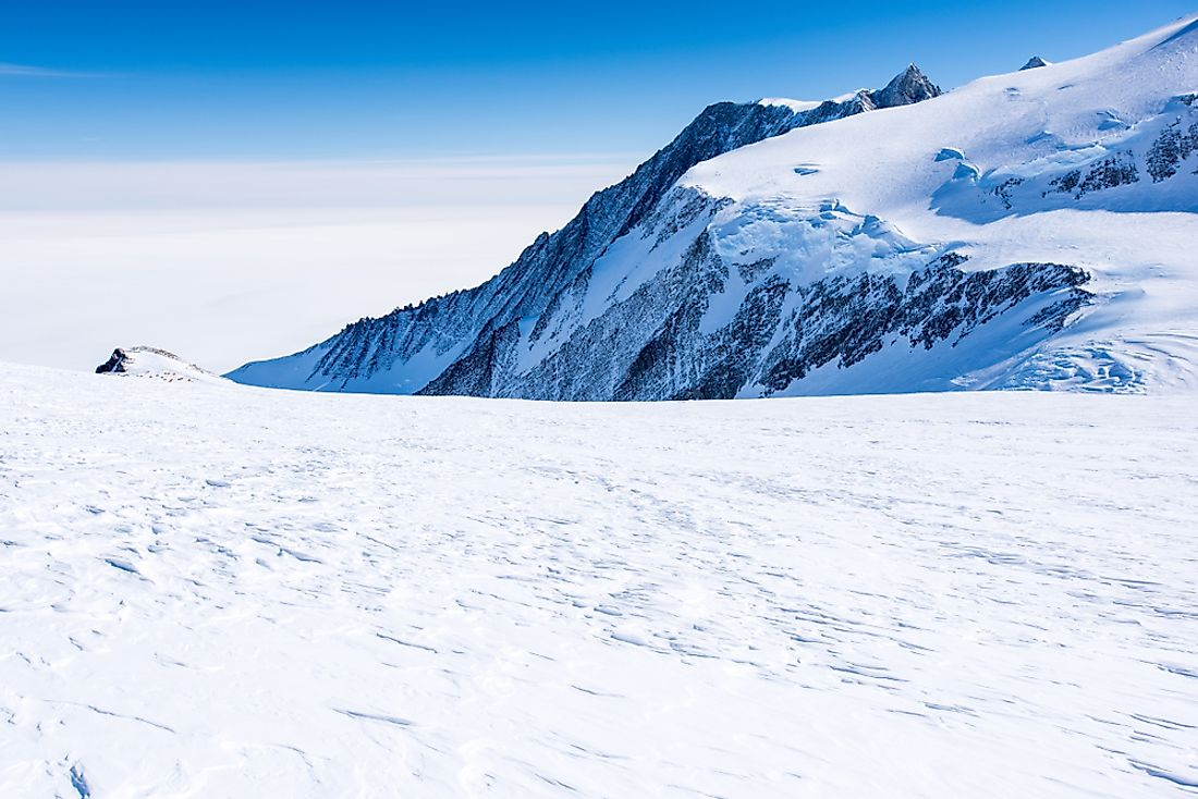 The Vinson Massif in Antarctica.