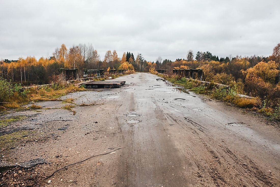 An abandoned bridge in Centralia.