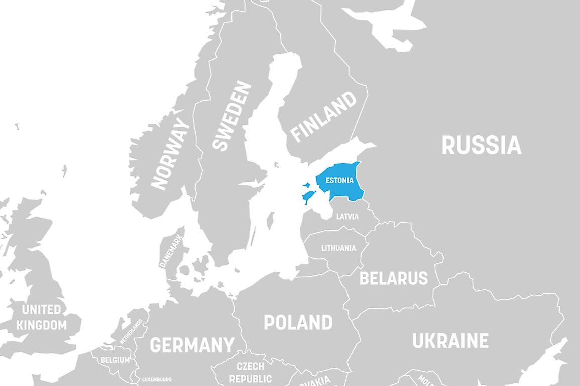 What Continent is Estonia In WorldAtlas