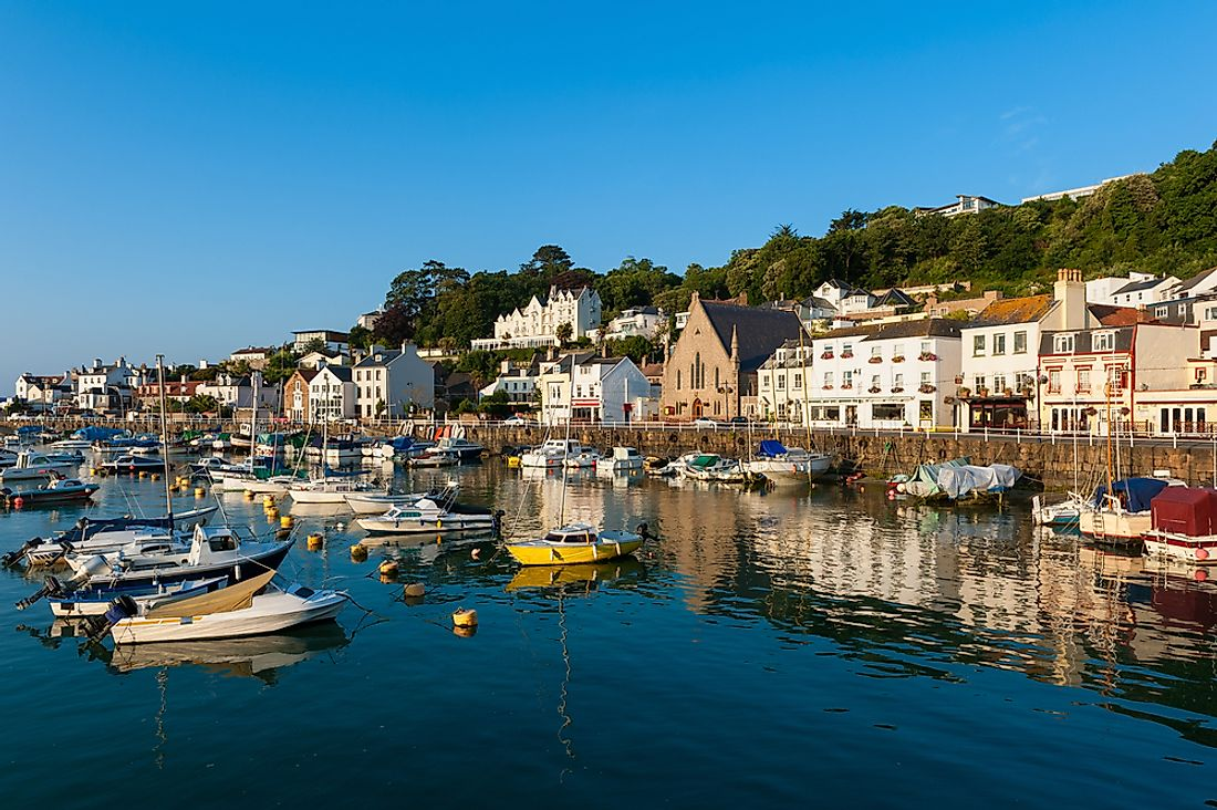 A view of Saint Aubin, Jersey.