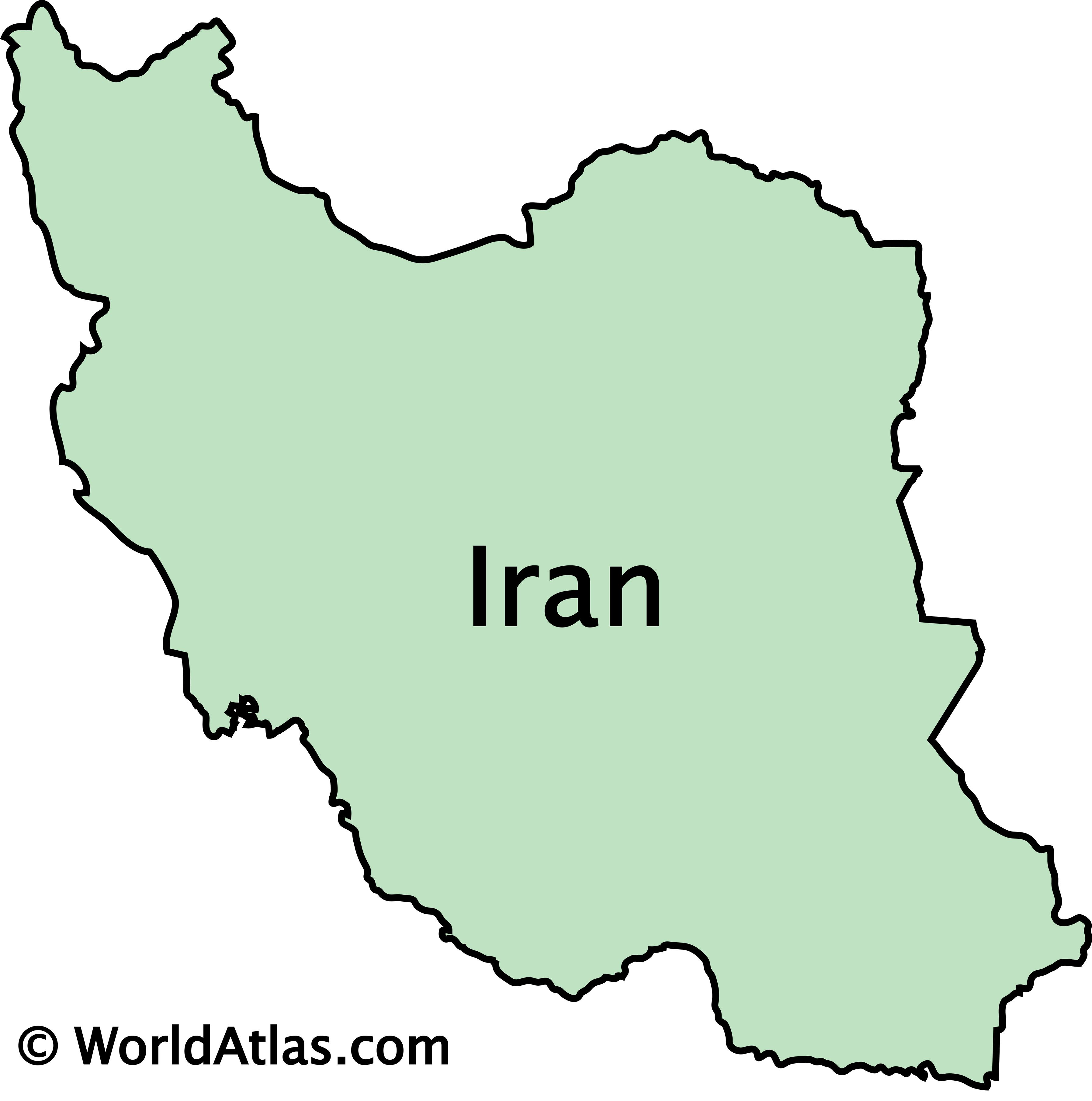 Outline Map of Iran