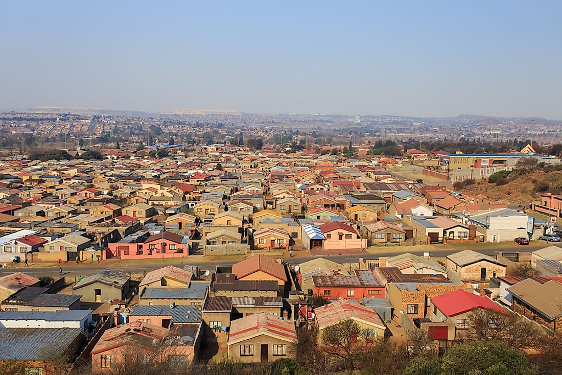 Soweto Township in Johannesburg, South Africa.