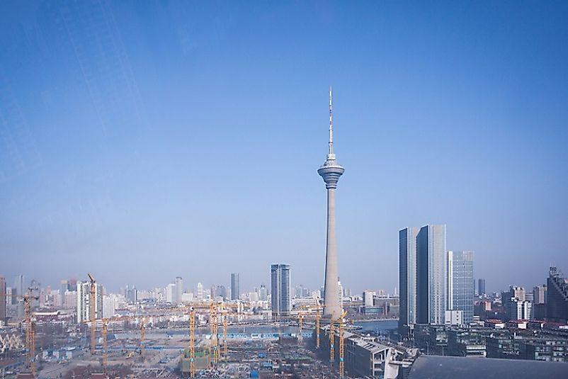 #8 Tianjin Radio & TV Tower, China - 1,362 Feet