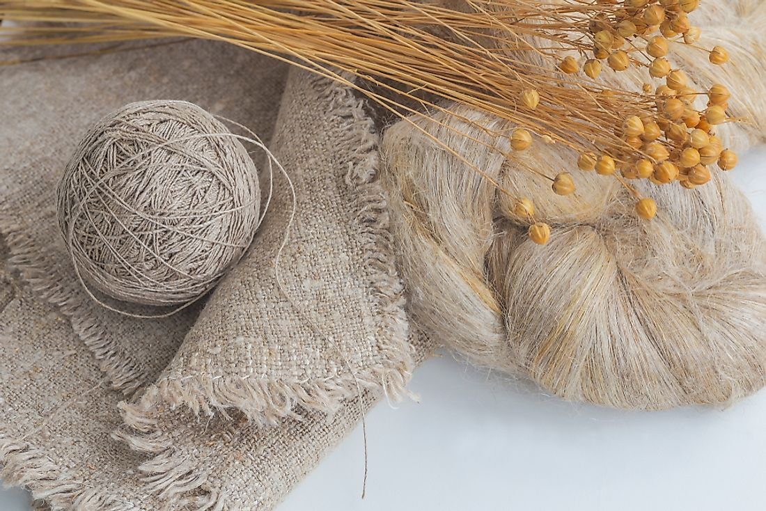 The flax plant produces a fibre known as linen.