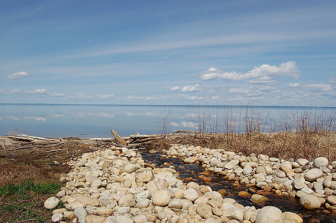 Lesser Slave Lake, one of the largest lake in Alberta, Canada.