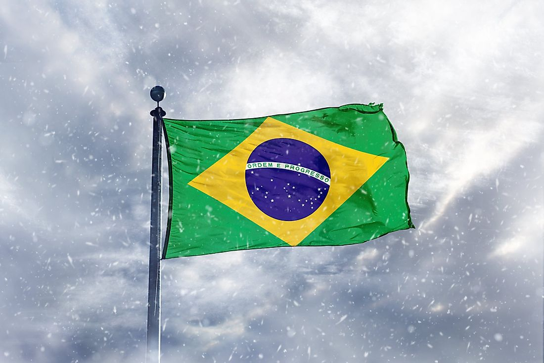 The higher elevations in Brazil inland states are known to receive snow annually.