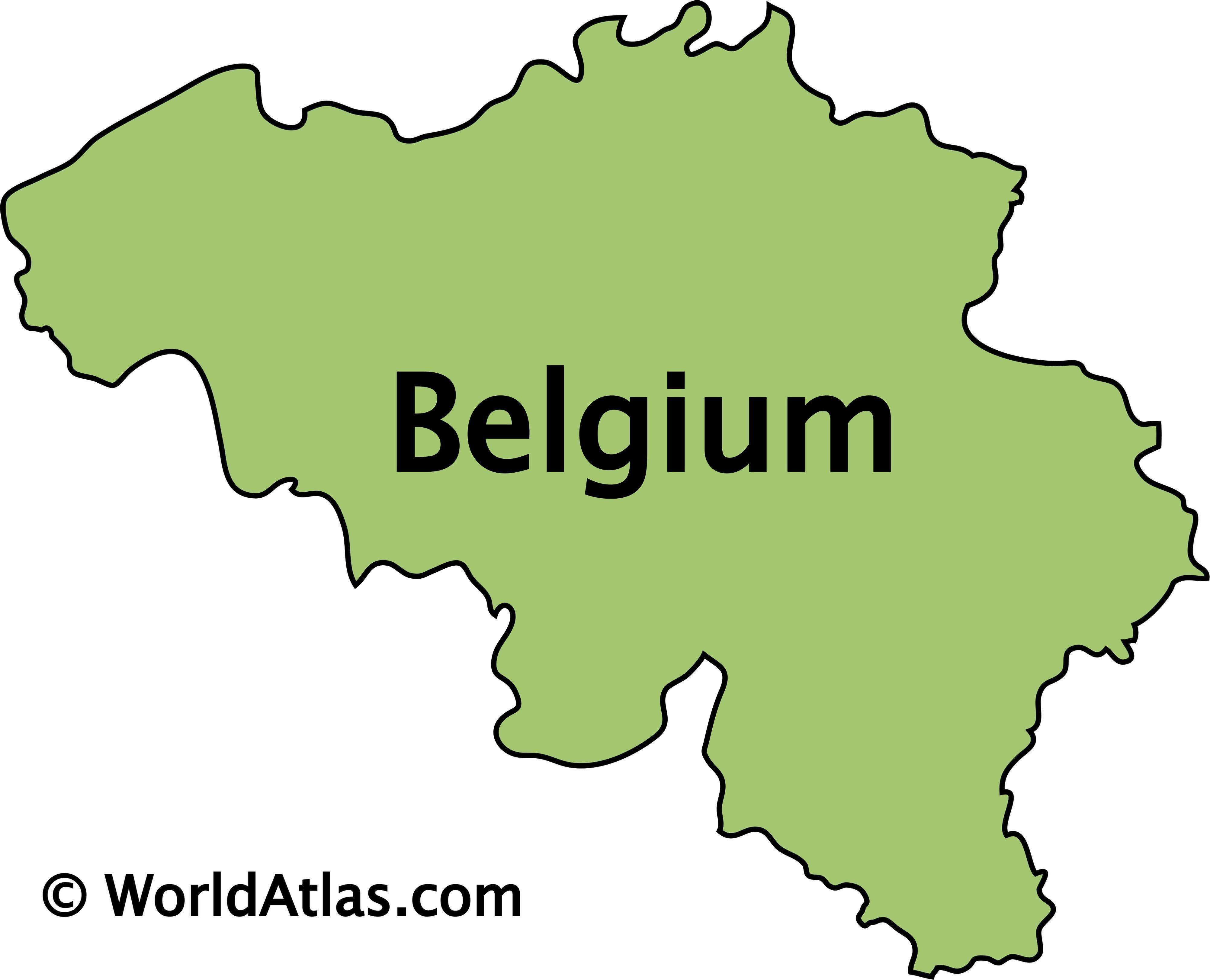 Outline Map of Belgium