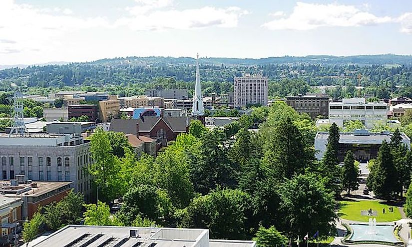 A view of downtown Salem, Oregon