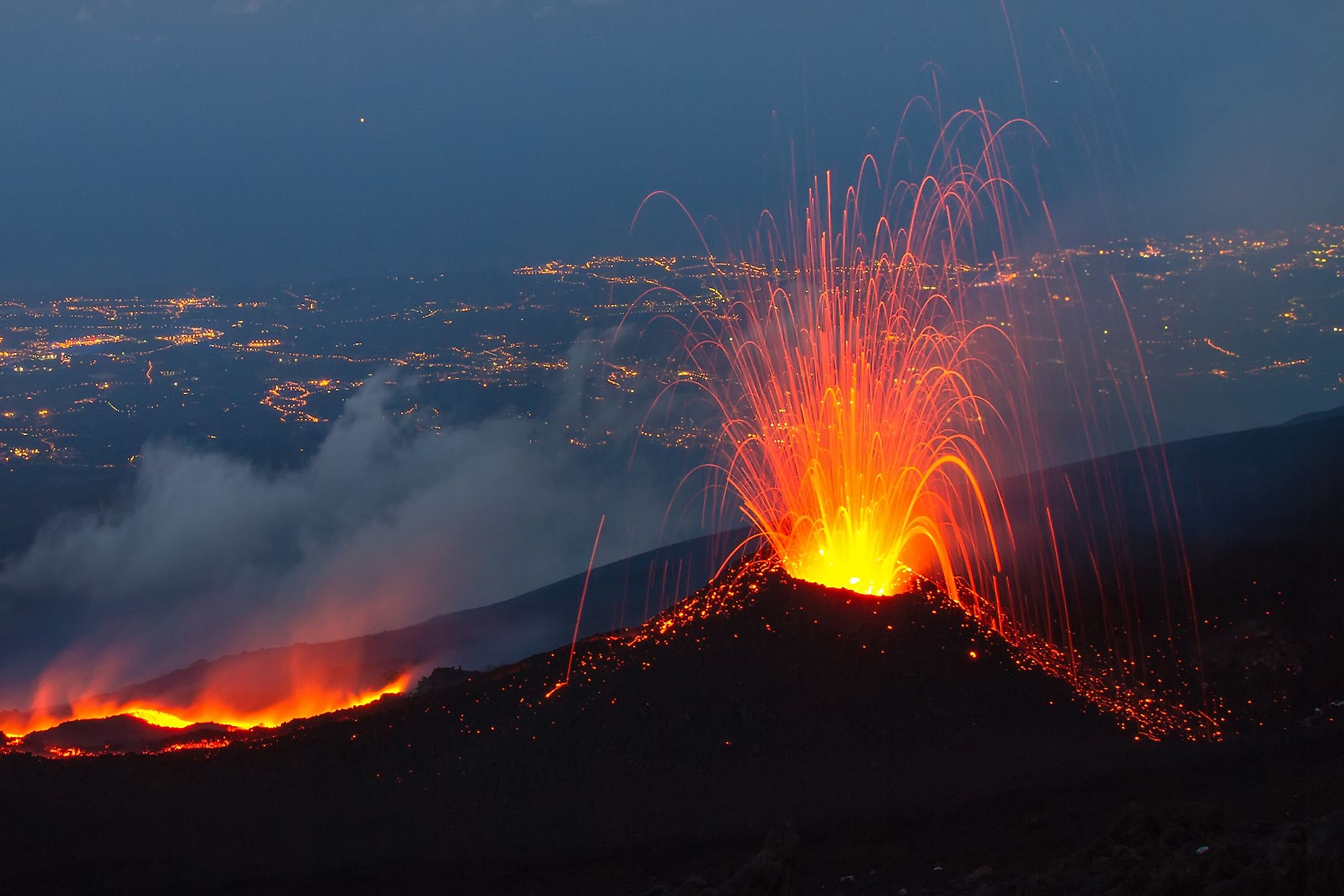 Mount Etna, Sicily, Italy, erupts in July 2014. Image credit: Wead/Shutterstock.com
