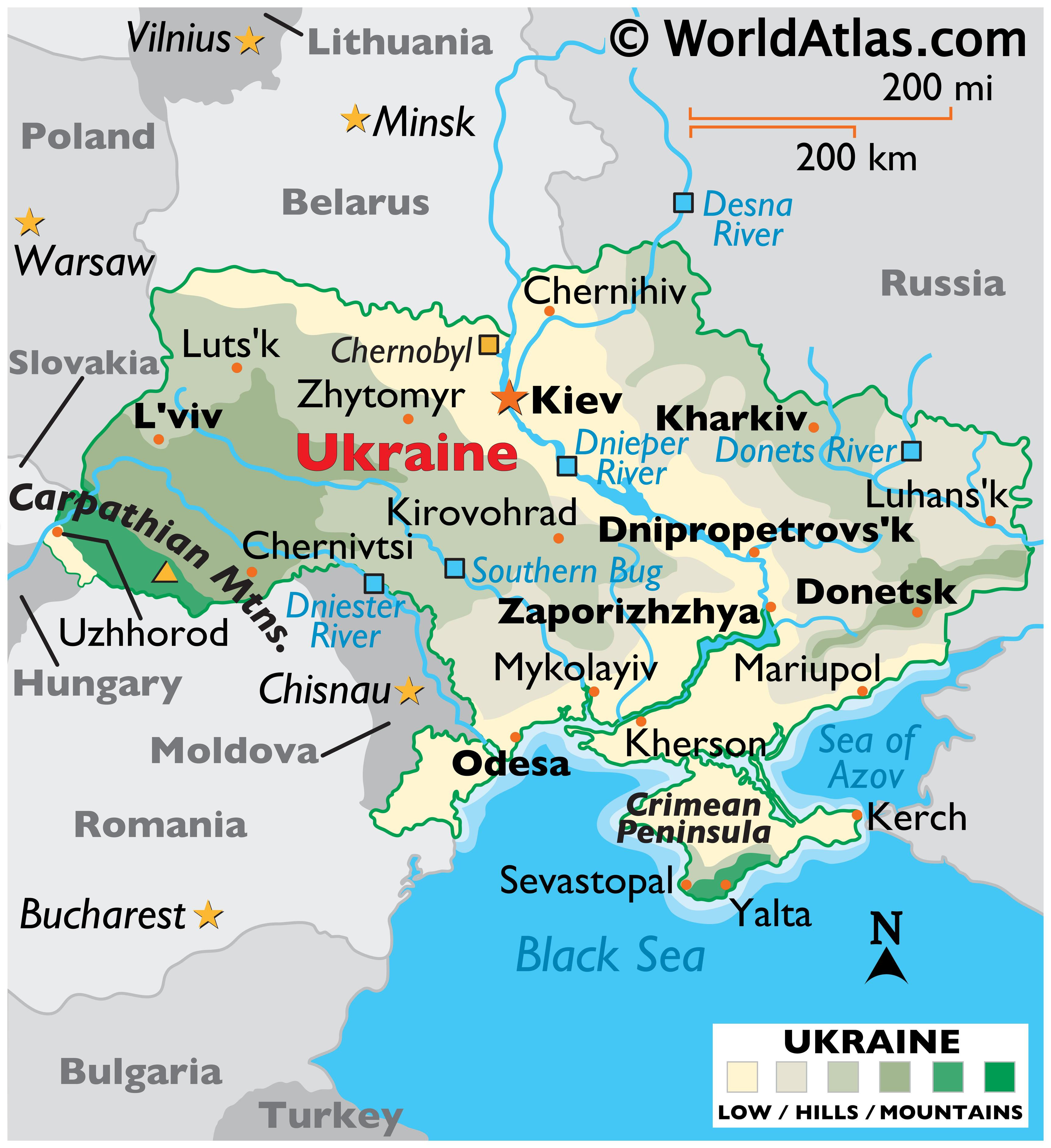 Picture of: Ukraine Maps Facts World Atlas