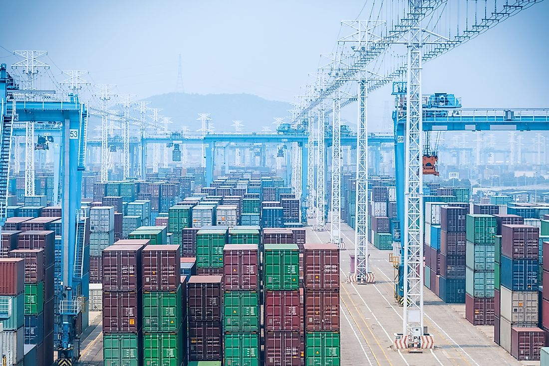 The Port of Ningbo-Zhoushan is the world's busiest in terms of tonnage moved.