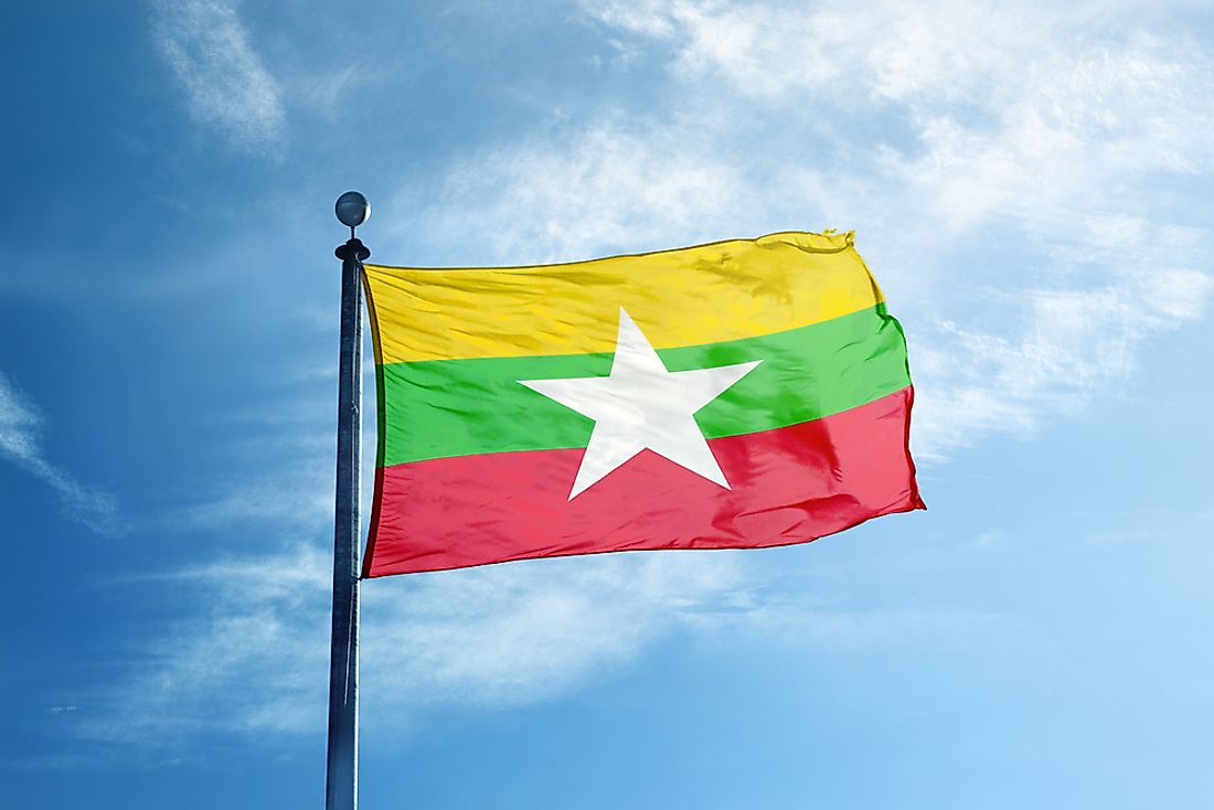 The current flag of Myanmar was adopted in 2010.
