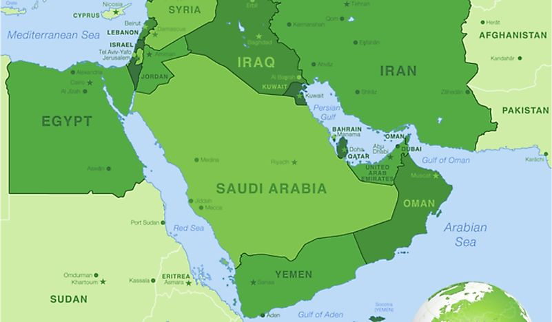 Saudi Arabia's position in the Middle East.