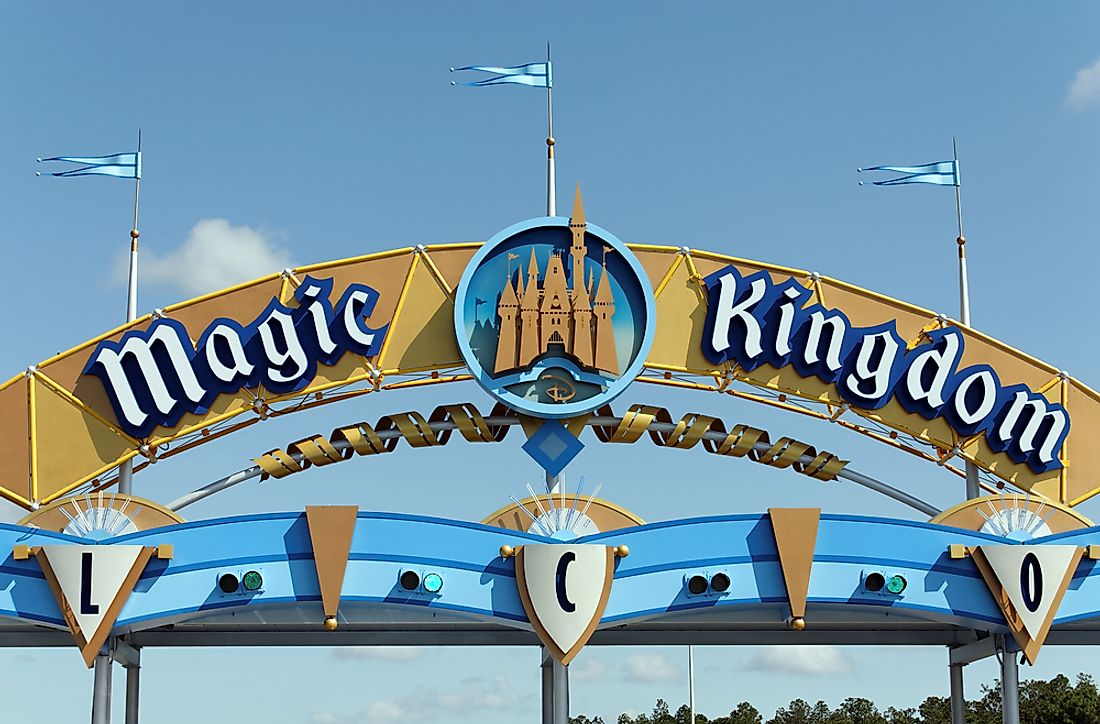 Magic Kingdom is the most visited amusement park in North America. Editorial credit: Katherine Welles / Shutterstock.com.