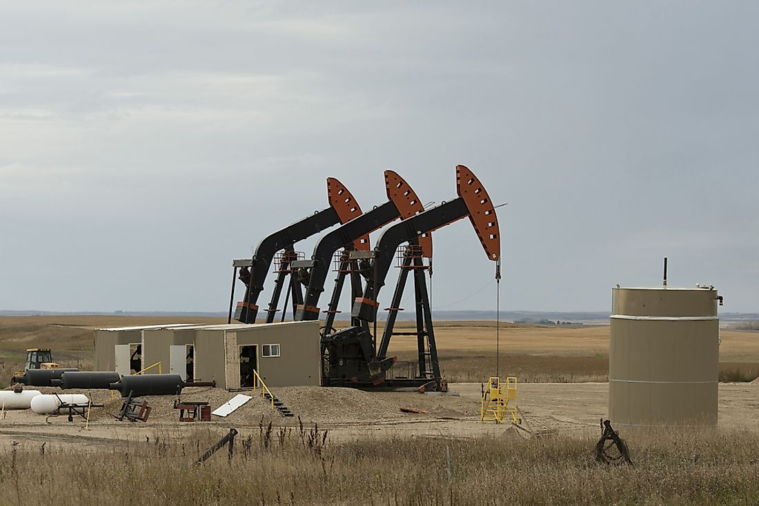 A traditional oil well in the US state of North Dakota. Today, oil is sourced using a number of innovative processes all around the world.