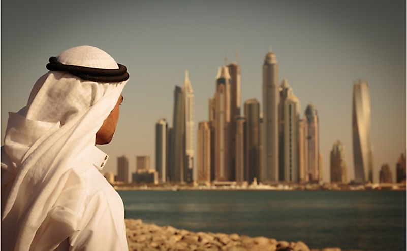 Dubai, the most populous city in the UAE, is located on the Persian Gulf. Editorial credit: Laborant / Shutterstock.com