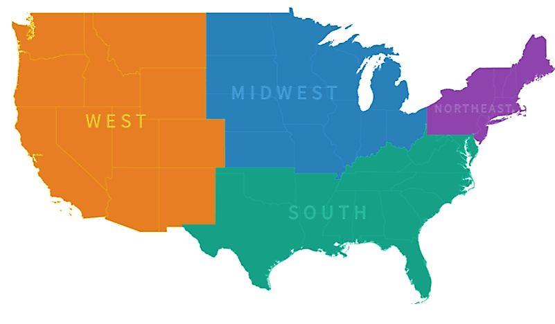 us map divided by region The Regions Of The United States Worldatlas