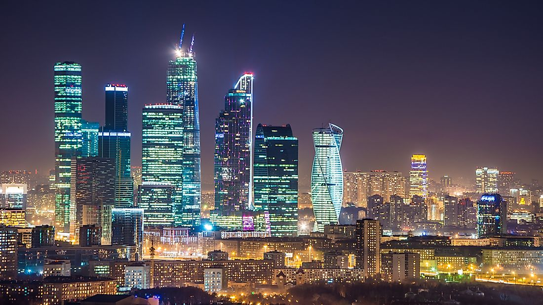 Moscow is home to some of Europe's tallest buildings.
