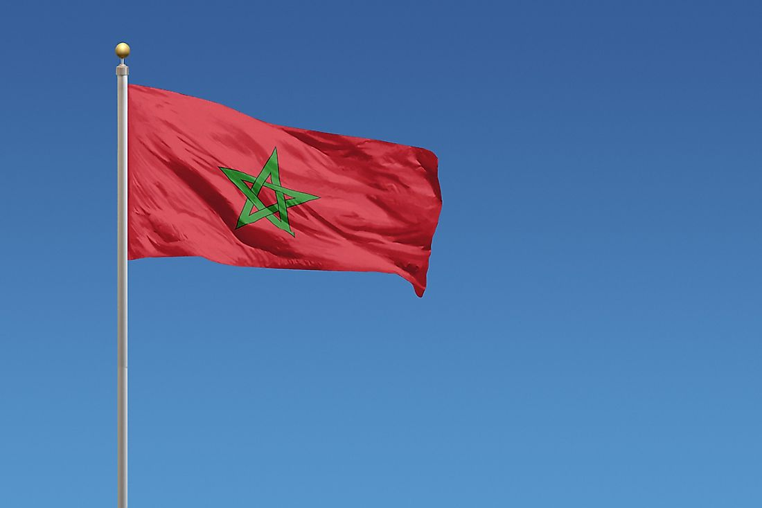 The flag of Morocco.