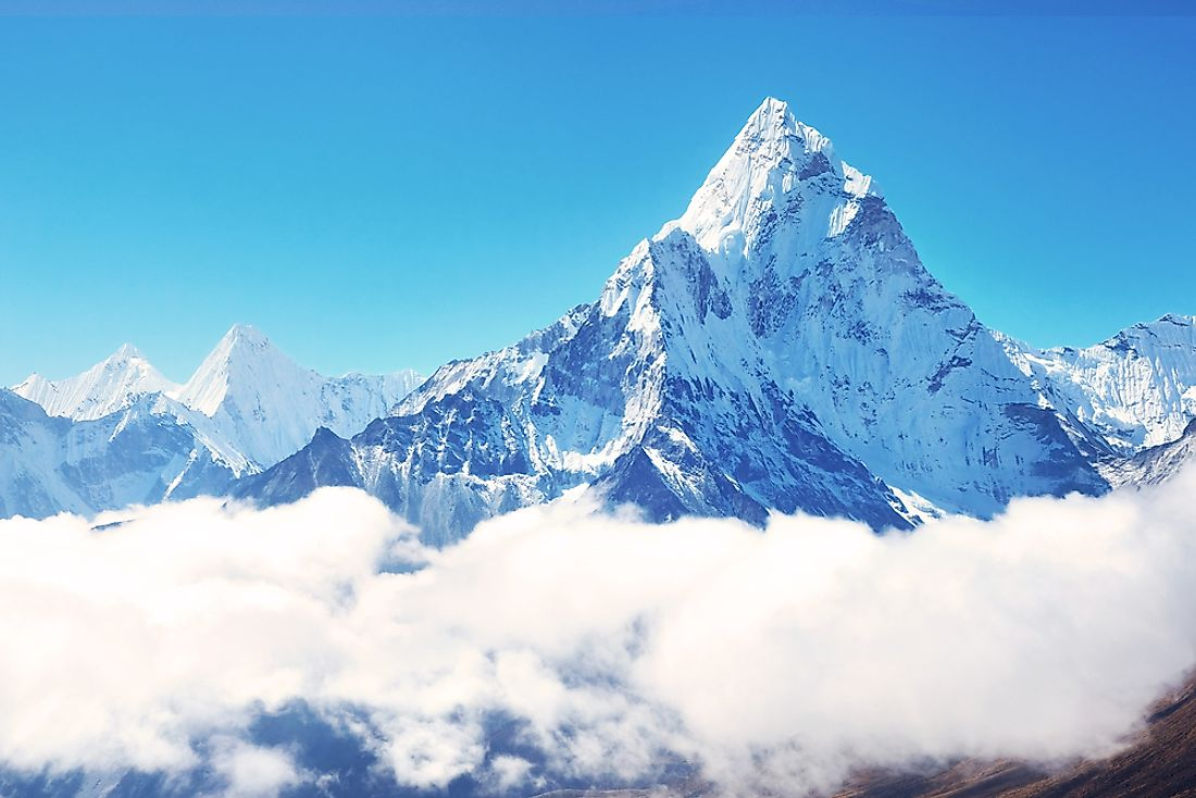 Mount Everest is the tallest peak in the world.