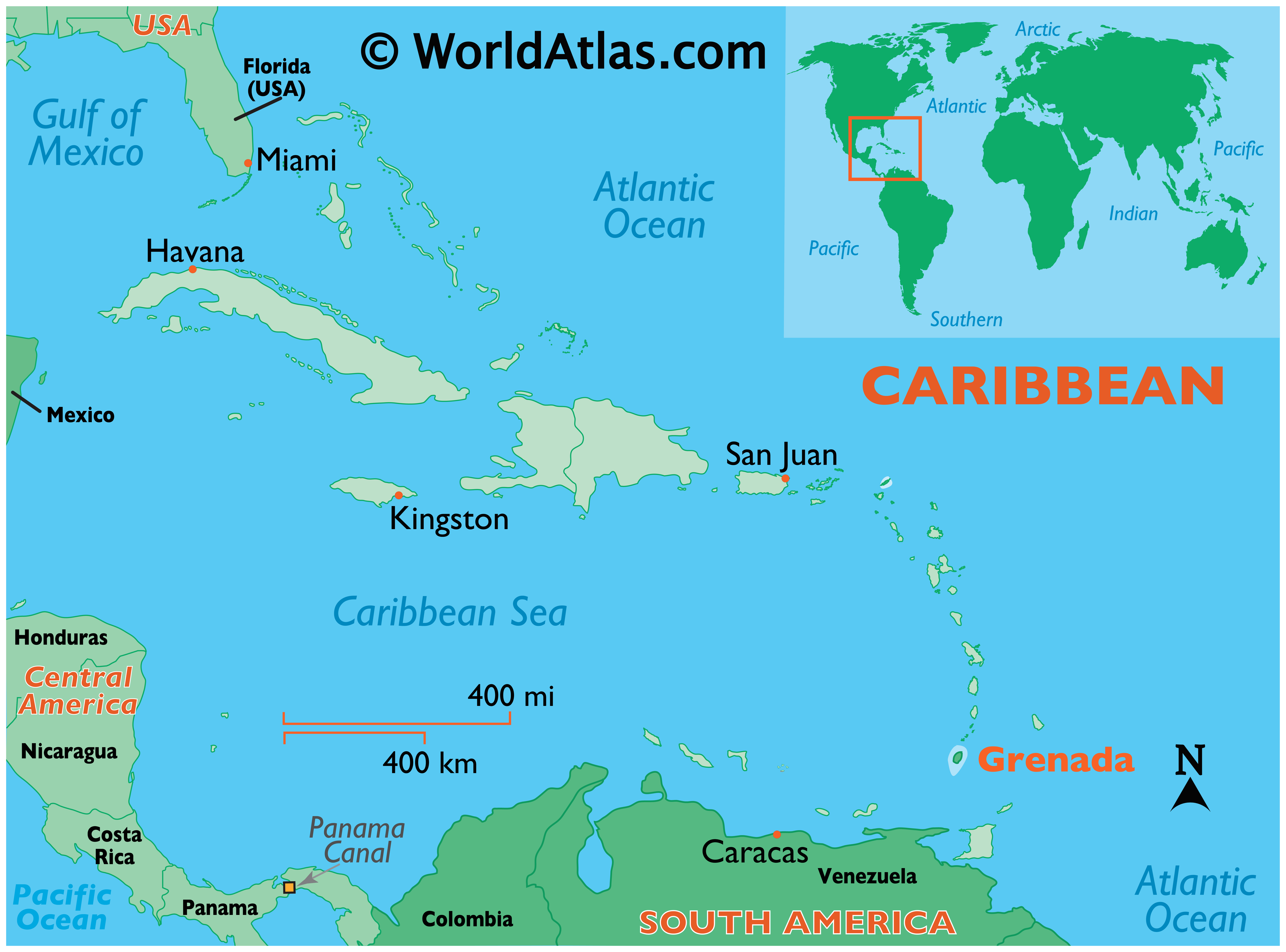 Picture of: Grenada Maps Facts World Atlas