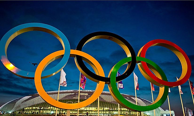 The 5 Olympic Rings represent the 5 continents of the world.