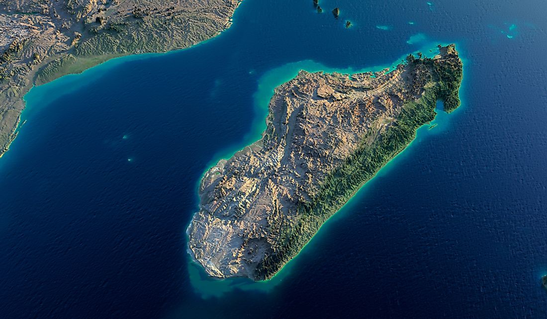 Madagascar sits off the eastern coast of southern Africa.