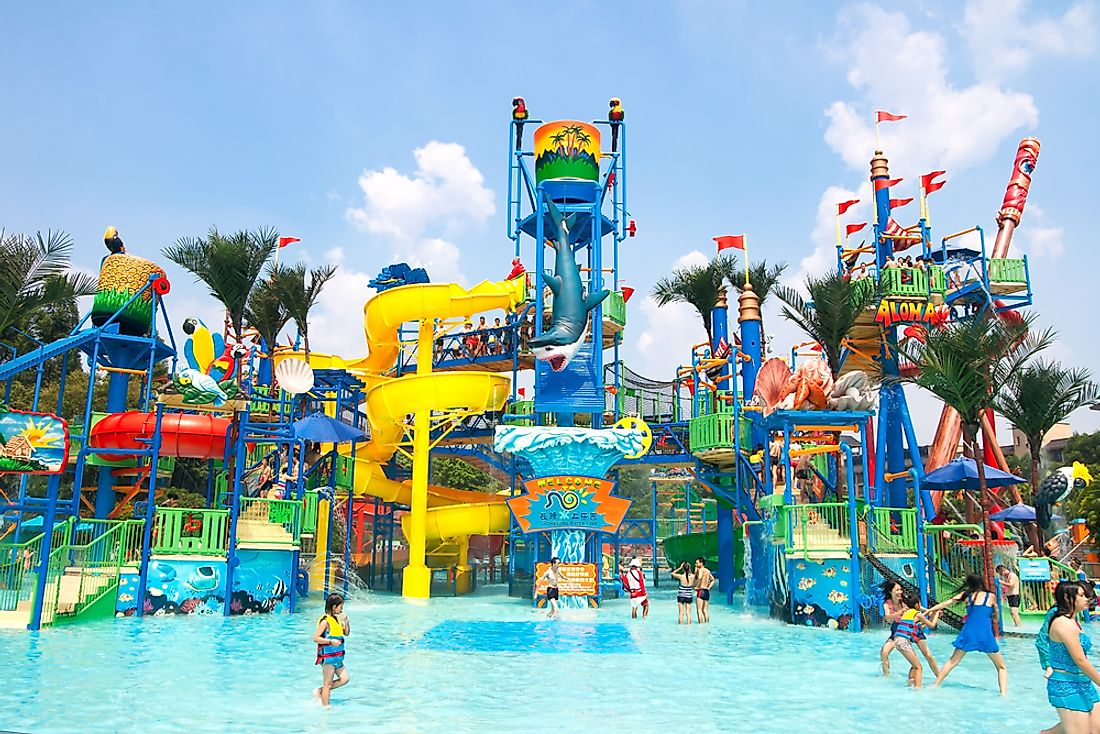 The Chimelong Water Park in Guangzhou is the most-visited park in China and the largest park of its kind in the world. Editorial credit: GuoZhongHua / Shutterstock.com.